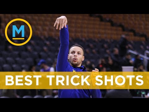The NBA's finest put on quite the show for Trick Shot Day   Your Morning