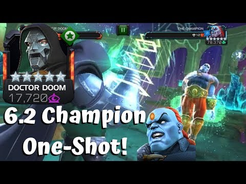 Dr Doom Vs 6.2 Champion Boss! One-Shot! - Marvel Contest Of Champions