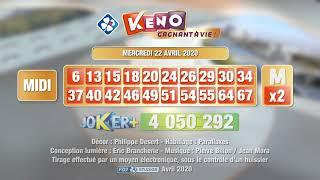 Retrouvez la vidéo du #tirage #Keno gagnant à vie® du 22 avril 2020 sur la chaîne YouTube officielle FDJ®. Les tirages des autres dates sont également ...