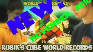 All WCA Rubik's Cube World Records November 2016 Edit (Singles)