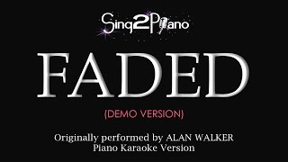 Video FADED (Piano karaoke demo) Alan Walker download MP3, 3GP, MP4, WEBM, AVI, FLV Juli 2018