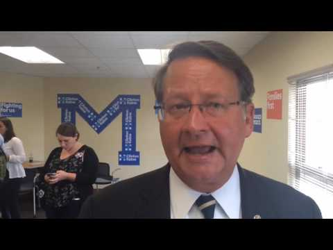 Gary Peters at Hillary Clinton campaign office opening in Ann Arbor