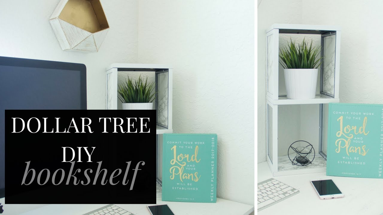 DOLLAR TREE DIY Bookshelf | Best DIY Bookshelf Under $20 Room Decor Project