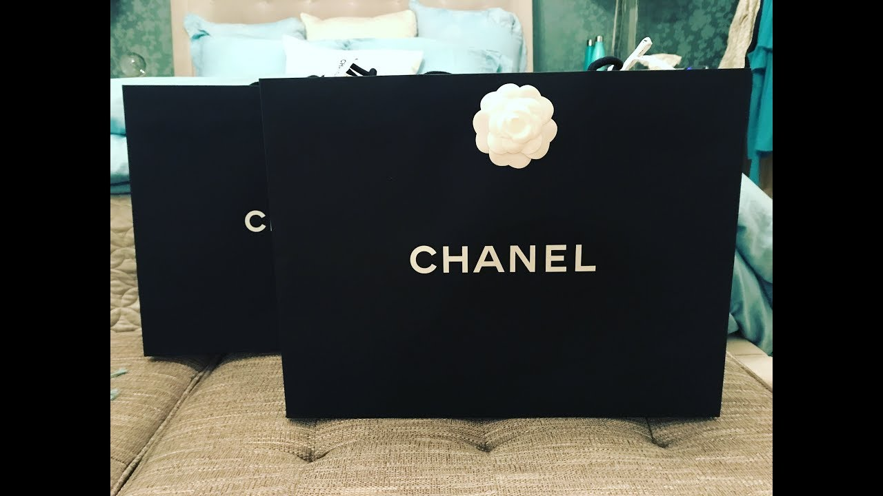 3db474c54561 CHANEL DOUBLE UNBOXING - JUNGLE STROLL BAG AND RAIN COAT JACKET ...
