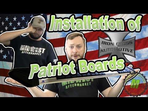 Installation of Iron Cross Patriot Boards