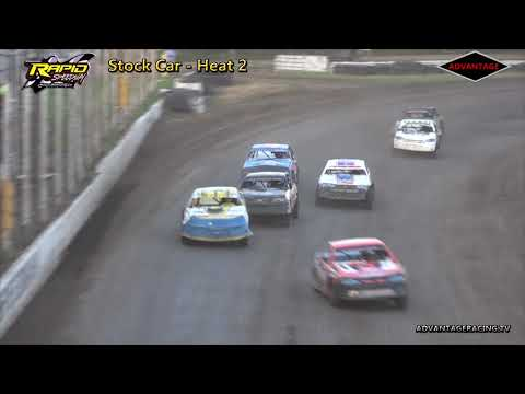 Stock Car Heats/Hobby Stock B Features - Rapid Speedway - 7/27/18