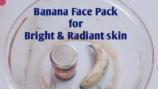 Banana Face Mask for Dry Skin Glowing Skin Anti Aging Winter Skin care Routine Mask HoneyFacemask