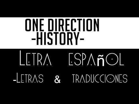 History One direction letra en español