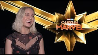 CAPTAIN MARVEL movie interviews - Brie Larson, Samuel L. Jackson, Lashana Lynch, Boden & Fleck