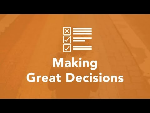 Making Great Decisions - Bruce Downes The Catholic Guy