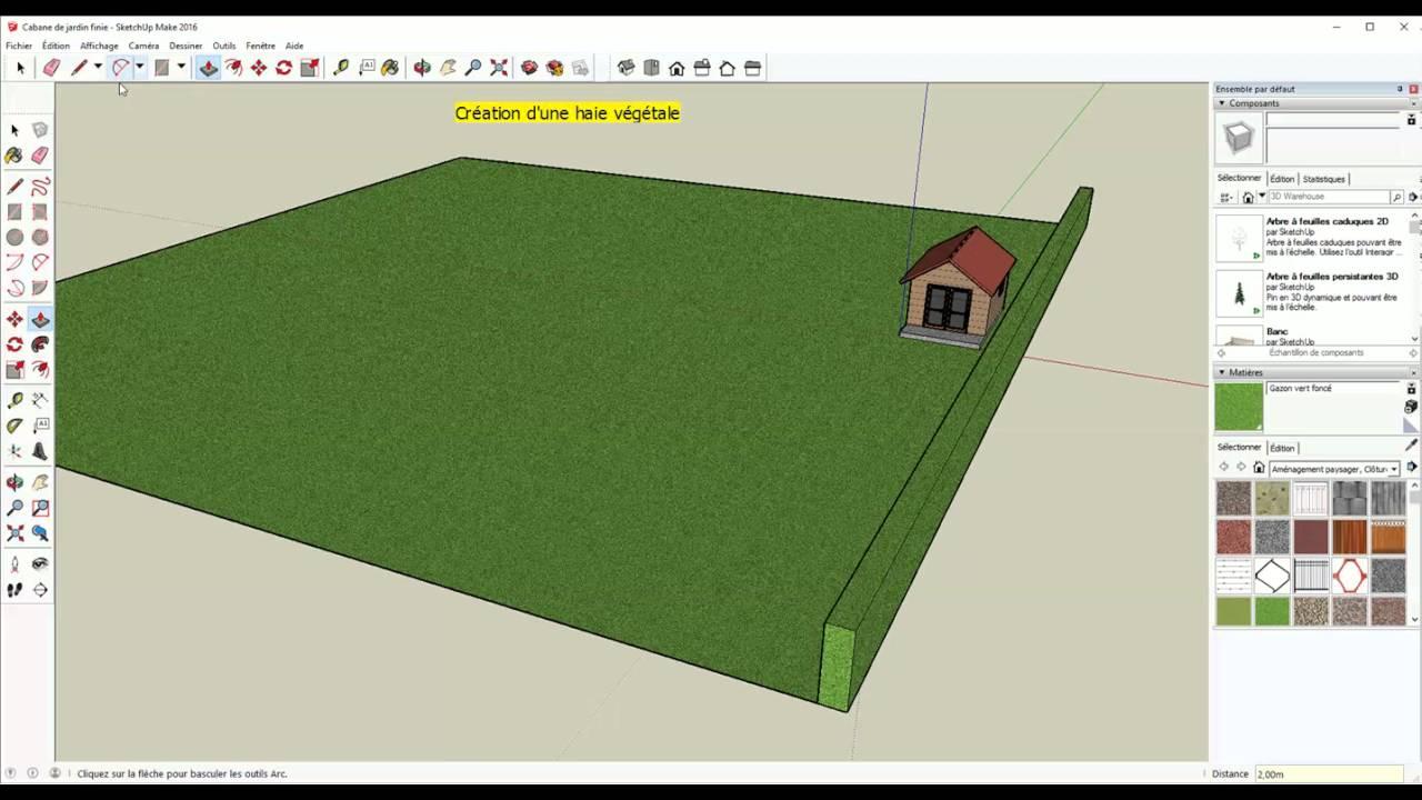 tutoriel pour cr er un jardin et ses cl tures sur google sketchup youtube. Black Bedroom Furniture Sets. Home Design Ideas