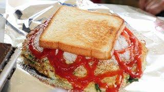 grandma big toast (대왕 토스트, トースト, 烤麵包 2,000KRW) korean street food / 창동 할머니 토스트
