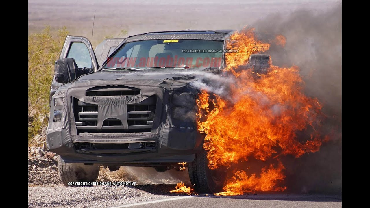 2016 Ford F-series Super Duty Prototype Burning