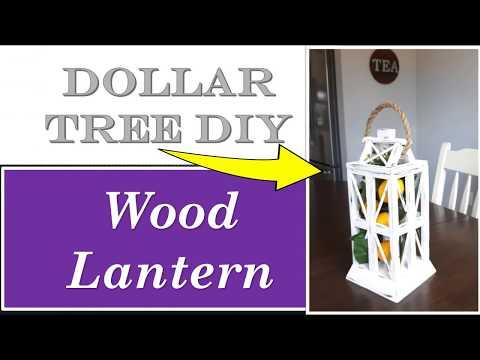 DOLLAR TREE DIY- WOOD LANTERN