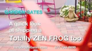 Packing the Totally Zen Frog II Garden Statue