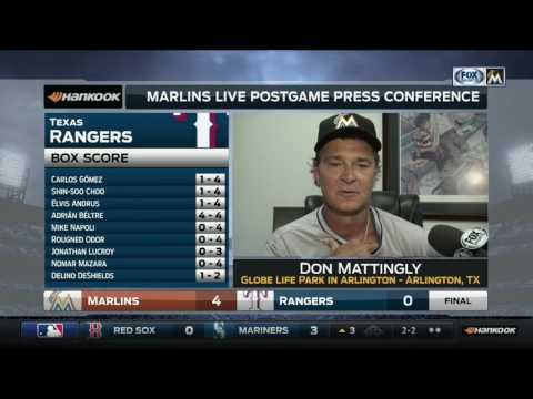 Don Mattingly -- Miami Marlins at Texas Rangers 07/24/2017