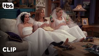 Friends: Three Single Girls in Wedding Dresses (Season 4 Clip) | TBS