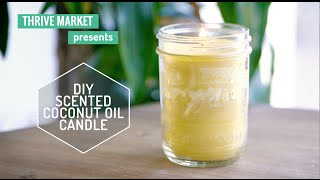 DIY Coconut Scented Candle