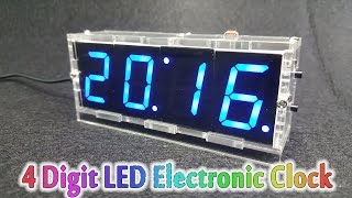 Tutorial - DIY 4 Digit LED Electronic Clock Kit Temperature - Soldering and assembling a watch for you extremely interesting - You