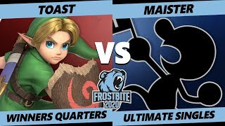 Frostbite 2020 SSBU Winners Quarters - NFT | Toast (Young Link) Vs SSG | Maister (G&W) Smash Singles