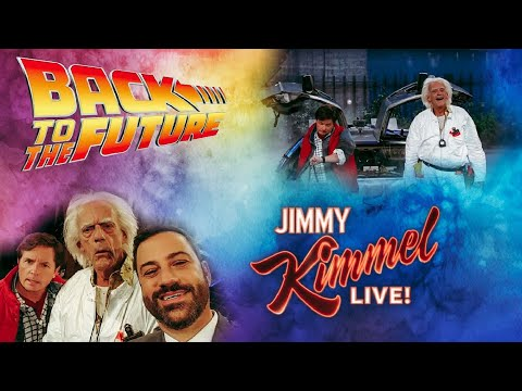 Marty McFly & Doc Brown Reunited On Jimmy Kimmel Live | Back To The Future Day Oct 21 2015 Re-upload