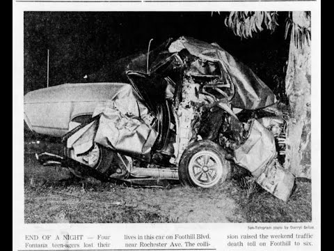 Foothill Boulevard Crash Fontana Fohi Students Tragedy Teenagers Died 1968 Route 66 Rancho Cucamonga