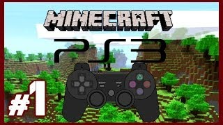 Noob Plays Minecraft PS3 Edition Gameplay - Surviving Our First Night Part 1