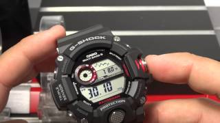 CASIO G-SHOCK REVIEW AND UNBOXING GW-9400-1 RANGEMAN TRIPLE SENSOR