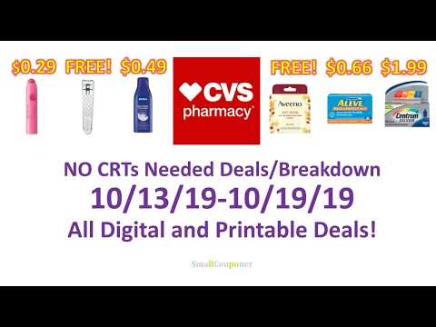 CVS 10/13/19-10/19/19 No CRTs Needed Deals Breakdown! All Digital And Printable Coupon Deals!