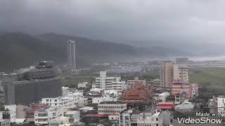Typhoon Mangkhut, is here in Taiwan, please pray for as