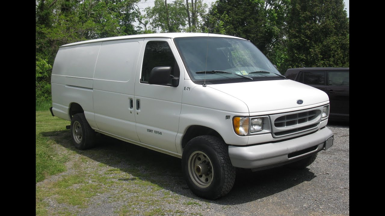 1998 ford e350 cargo van for sale on ebay youtube