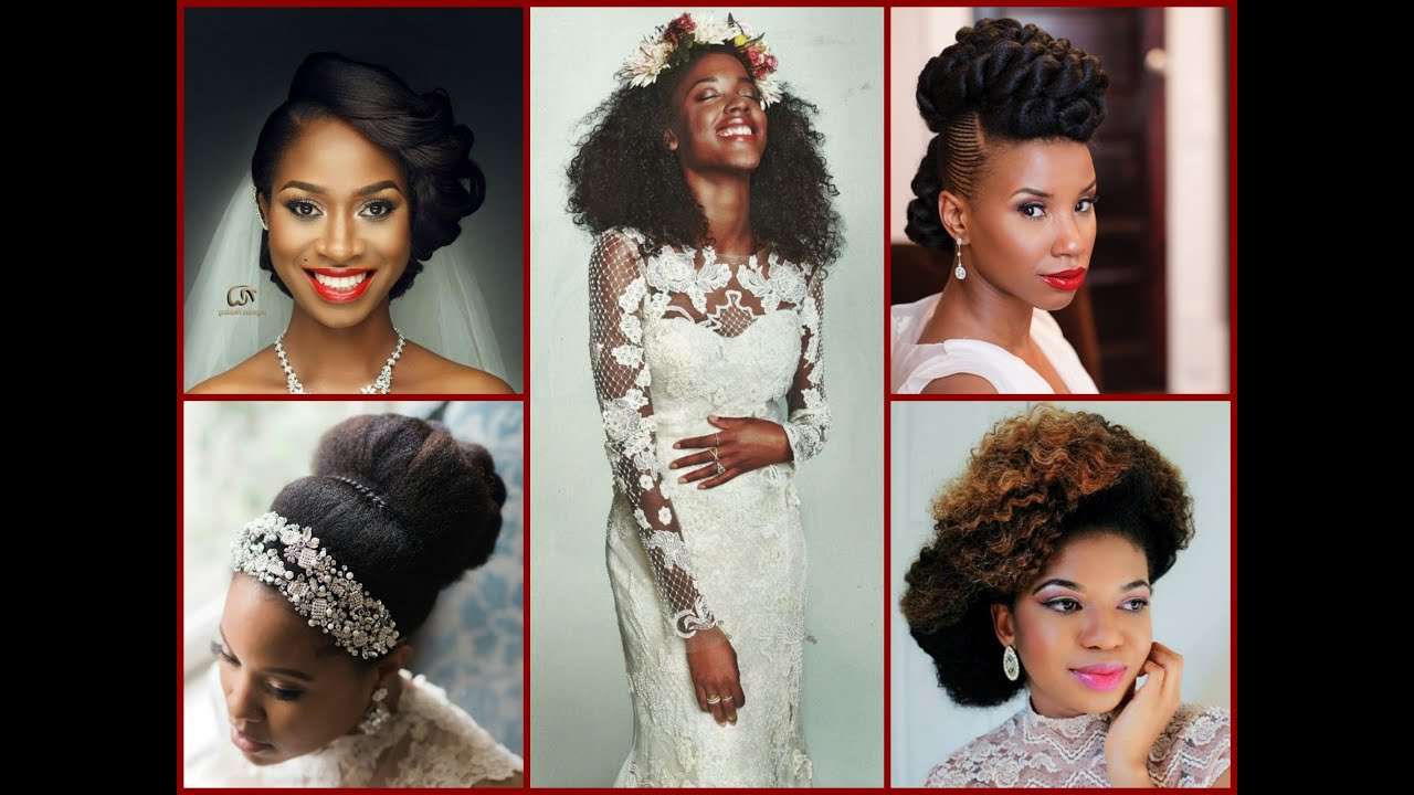 Black Women Wedding Hairstyles - 40 Beautiful Updos - YouTube