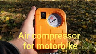 Air compressor for motorbike
