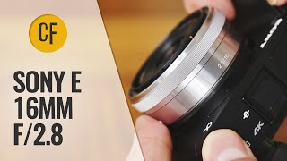sony 16mm f/2.8 'Pancake' lens review with samples