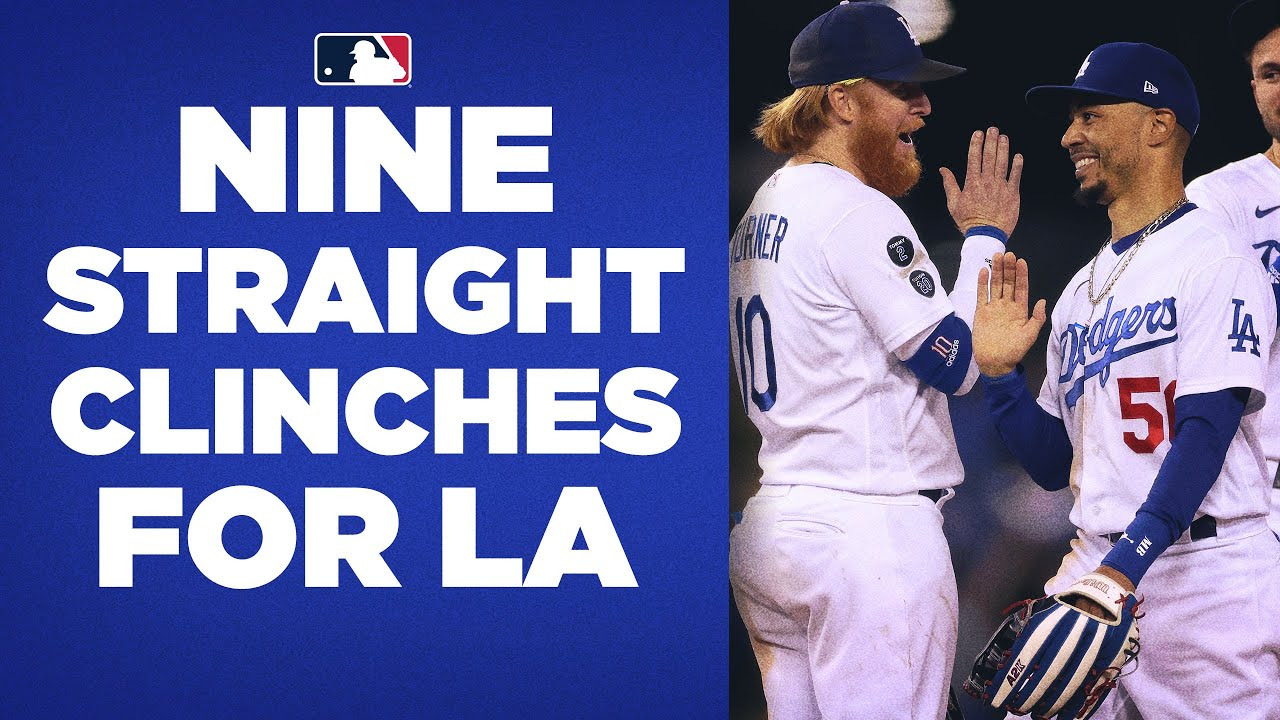 9 STRAIGHT!!! The Dodgers have clinched a Postseason spot NINE straight years!