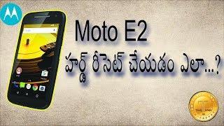 Moto E2 Hard reset & soft reset
