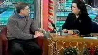 Bill Gates chats wİth Rosie O'Donnell about REALLY important matters!