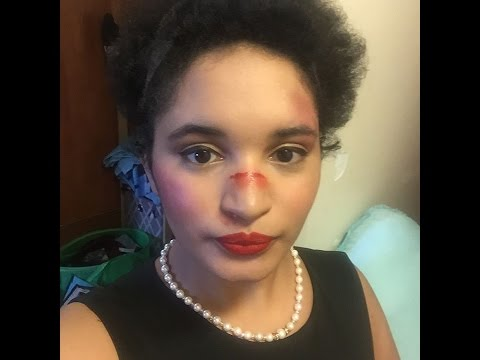 1950s Housewife/zombie fighter makeup