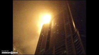 Fire Breaks Out in Dubai Skyscraper Near Burj Khalifa