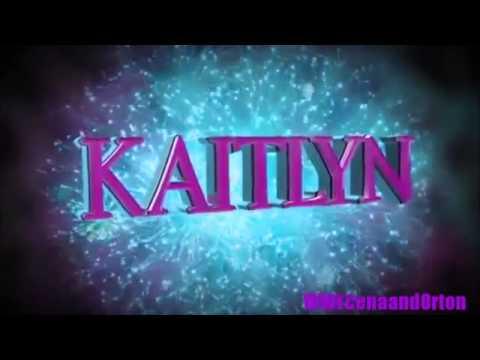 WWE Kaitlyn New 2014 Titantron And New Theme Song Higher