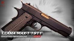Llama Max-1 1911 Shooting Impressions