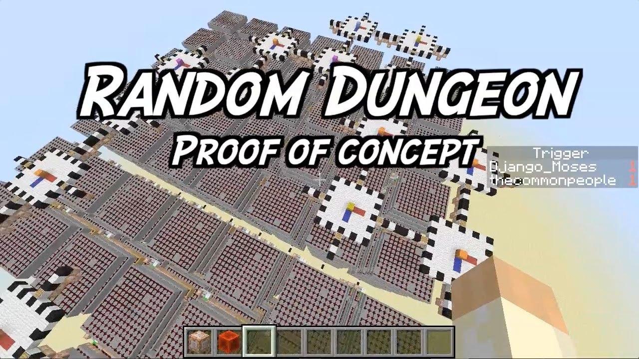 Minecraft Sketchbook - Random Dungeon Generator - proof of concept on random name chooser, random name word picker, random sketch, random walk, random comics, random tractor, random numbers, random head,