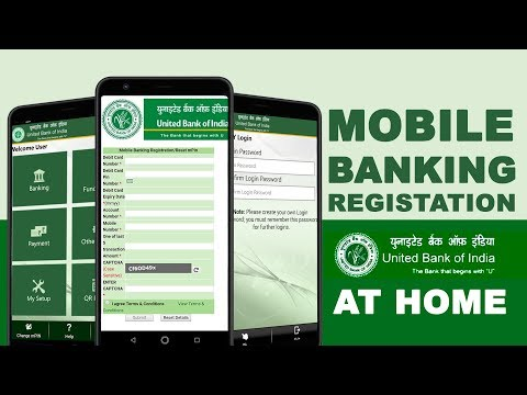 United Bank Of India Mobile Banking Registration Online With ATM Card | How To Get UBI M-Pin [HINDI]