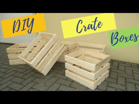 Wooden crate boxes from pallet reclaimed wood // DIY