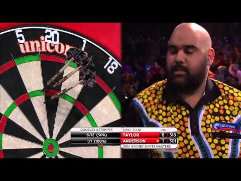 PDC World Series of Darts 2014 - Sydney - Semi Final - Taylor vs Anderson