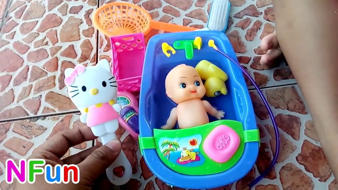 Boneka Bayi   Bebek Mandi Mainan Anak Boneka Lucu di Handukan - Baby doll  Bath Time and Towel d793bf86f3