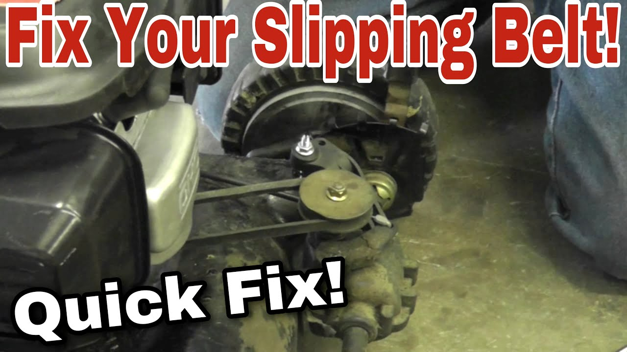 How To Easily Fix A Slipping Belt Or Drive On An Mtd Push