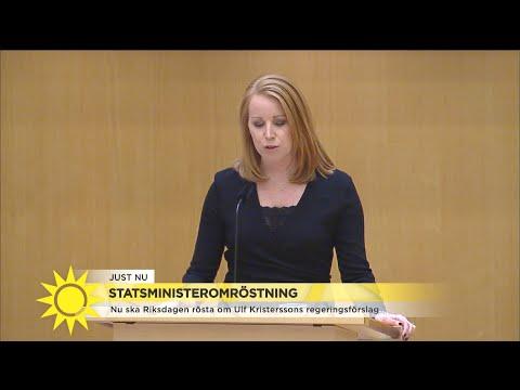 Lööf (C): En alliansregering kan bara bildas med förankring över blockgränsen - Nyheterna (TV4)