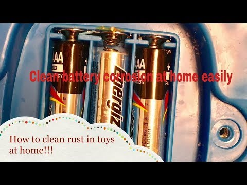 How to clean battery acid corrosion on kids toys at home easily