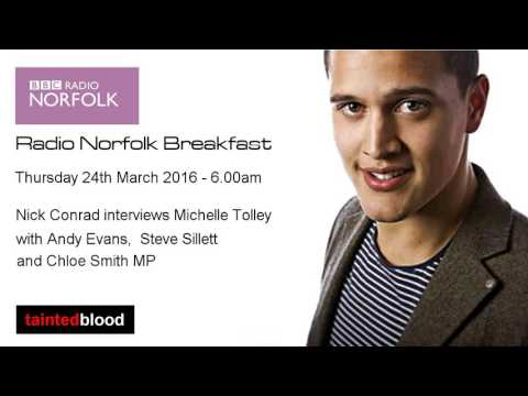 BBC Radio Norfolk - 24th March 2016 - Nick Conrad at Breakfast